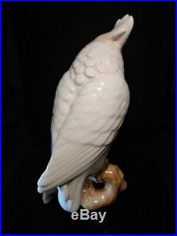 Vintage ROYAL DUX PORCELAIN FIGURINE Statue MACAO Parrot Bird CZECHOSLOVAKIA
