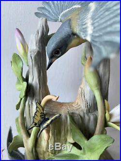 Vintage Retired BOEHM Porcelain Bird Statue Figurine Parula Warblers #484