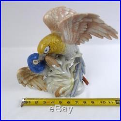Vintage WKC Graefenthal Germany Porcelain Parrot Bird Statue Figurine 10