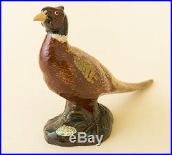 Vtg Rosemeade Pottery Male Pheasant Statue Figure Cock Bird 7 x 12 Large