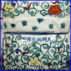 White blue Color Porcelain Carving 3 Longevity God Fu Lu Shou Life Statue Set